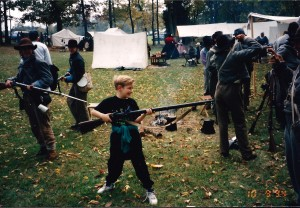 Seth in Perryville, KY at a Civil War Reenactment, Oct. 1994