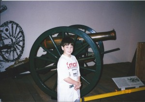 Solomon got a big bang out of the cannons in Gettysburg in July 1998