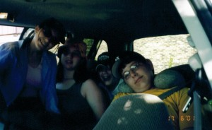 Traveling in the van, Summer 2001