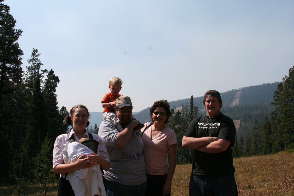 The family at Kings Hill Pass near Meagher, MT - Amaree, Charlie, Sumoflam, Kade, Julianne and Solomon - Sept 2007