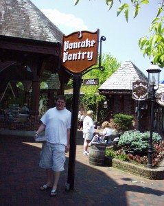 Seth outside the Pancake Pantry in Gatlinburg, TN May 2005