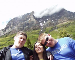 Solomon, Marissa and Seth at Glacier National Park, June 2005