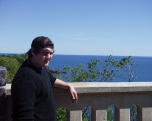 Solomon at the Lake Superior Overlook near Duluth, MN