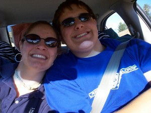 Traveling Siblings - Amaree and Seth on their way to Montana in July 2004