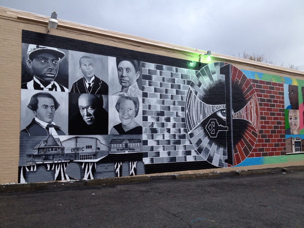 Another view of the Rashid Mural on 3rd St.