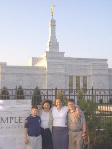 Solomon, Julianne, Amaree and Seth at LDS Nashville Temple Dedication, May 2000