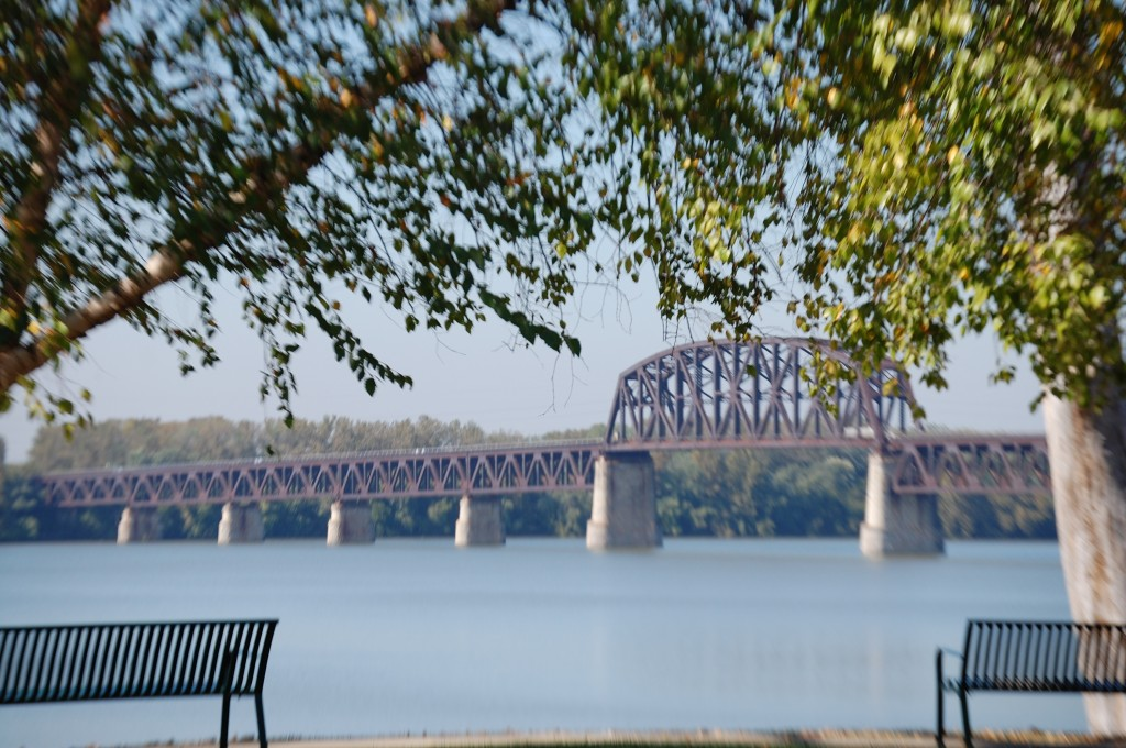The Fourteenth Street Bridge - a railroad bridge crossing the Ohio River