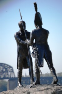 Another view of Lewis and Clark meeting