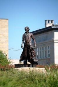 Thomas Jefferson statue in Jeffersonville, IN
