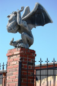 Another Industrial Terrorplex gargoyle waits to pounce on someone