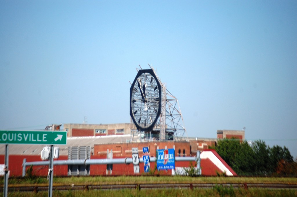 Giant Colgate Clock in Clarksville, IN